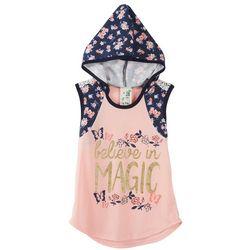 Lily Bleu Little Girls Believe Floral Hoodie