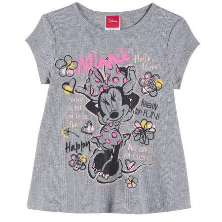 Disney Minnie Mouse Little Girls Happy T-Shirt