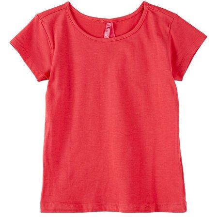 1st Kiss Little Girls Essential Solid T-Shirt