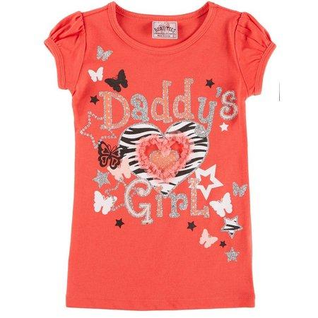Beautees Little Girls Daddy's Girl T-Shirt