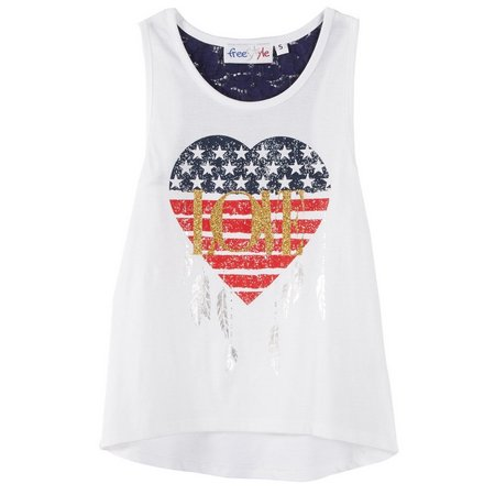 New! Freestyle Little Girls American Love Tank Top