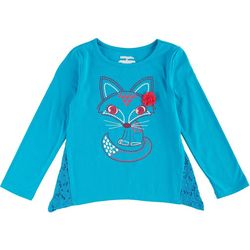 Kidtopia Little Girls Sharkbite Fox T-Shirt