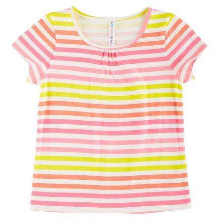 Love Peace & Lip Gloss Little Girls Stripe
