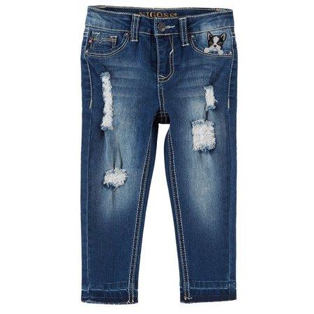 Vigoss Little Girls Dog In My Pocket Skinny