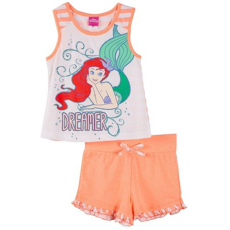 Disney Little Mermaid Little Girls Shorts Set