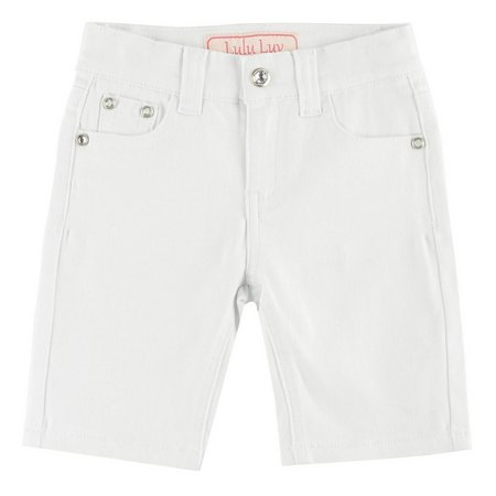 1st Kiss Little Girls Bling Bermuda Shorts
