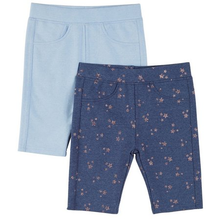 Freestyle Little Girls 2-pk. Star Print Bermuda Shorts