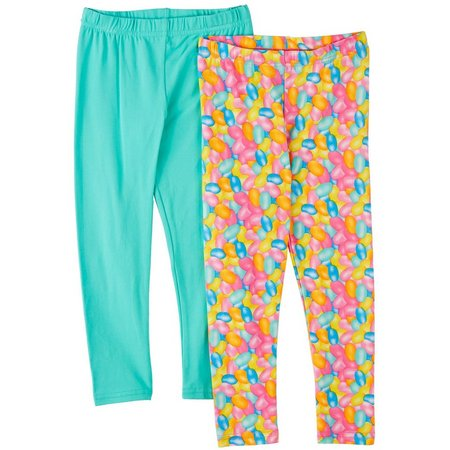 Freestyle Little Girls 2-pk. Jelly Bean Leggings