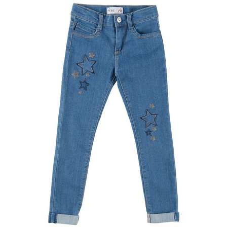 Freestyle Little Girls Comfort Star Jeans