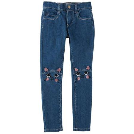 Freestyle Little Girls Cat Knee Jeans