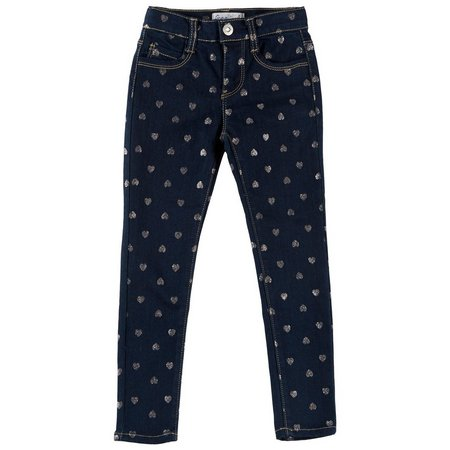 Freestyle Little Girls Comfort Heart Jeans