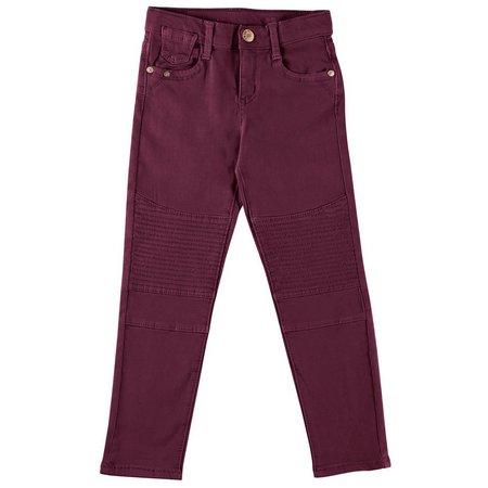 Celebrity Pink Little Girls Pop Twill Moto Pants