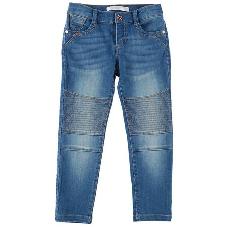 Celebrity Pink Little Girls Skinny Fade Moto Jeans