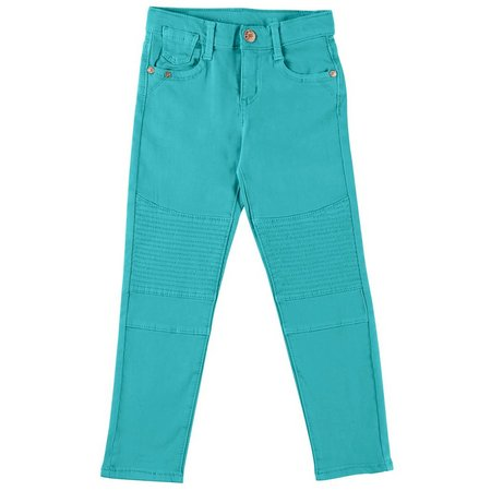 Celebrity Pink Little Girls Solid Twill Moto Pants