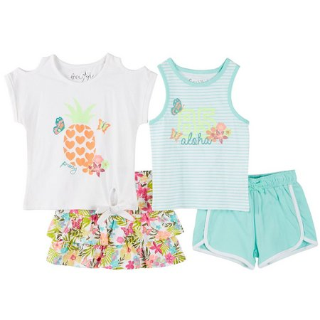 Freestyle Little Girls 4-pk. Tropical Set