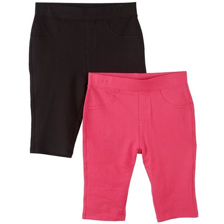 Freestyle Little Girls 2-pk. Bermuda Shorts
