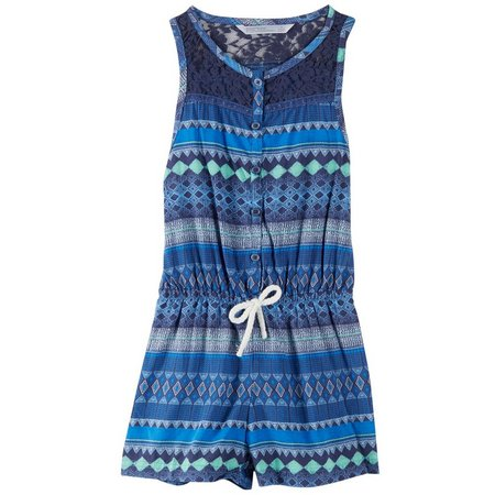 PS From Aeropostale Little Girls Lace Trim Romper