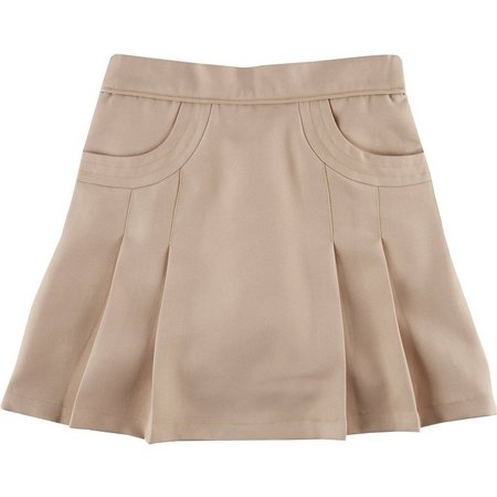 Nautica Little Girls Pleated Scoop Pocket Uniform Skort