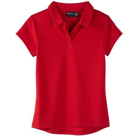 Nautica Big Girls Performance Uniform Polo Shirt