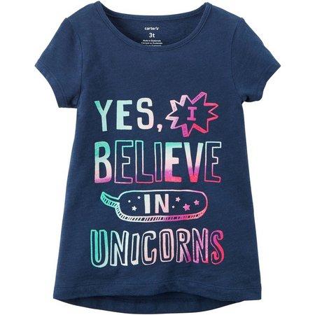 Carters Little Girls Believe in Unicorns T-Shirt