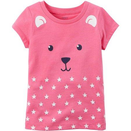 Carters Little Girls Bear T-Shirt
