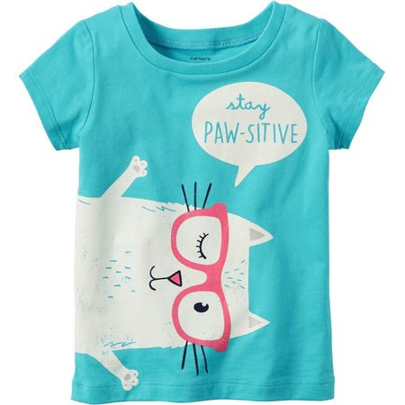 Carters Little Girls Stay Paw-sitive T-Shirt