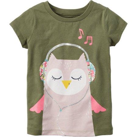 Carters Little Girls Music Owl T-Shirt
