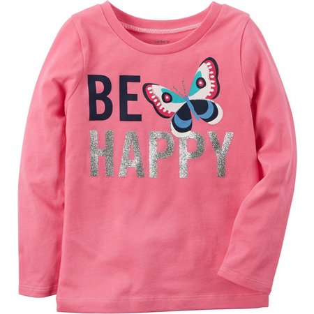 Carters Little Girls Be Happy T-Shirt
