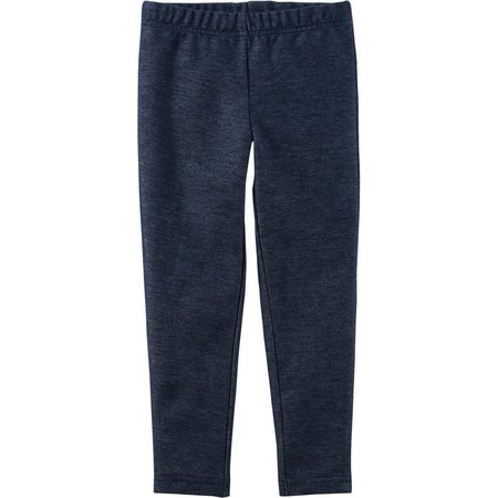 Carters Little Girls Knit Denim Leggings