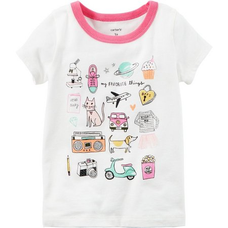 Carters Little Girls My Favorite Things T-Shirt