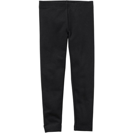 Carters Little Girls Solid Stretch Leggings