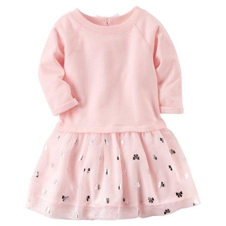 Carters Little Girls Bow Tutu Dress