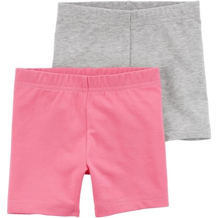 Carters Little Girls 2-pk. Heather Pull-On Shorts