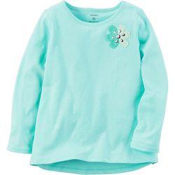 Carters Little Girls Long Sleeve Flower T-Shirt