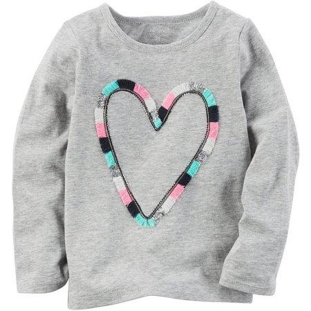 Carters Little Girls Threaded Heart T-Shirt