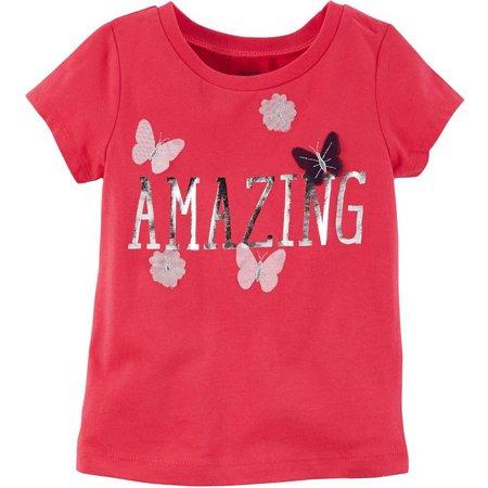 Carters Little Girls Amazing Butterfly T-Shirt