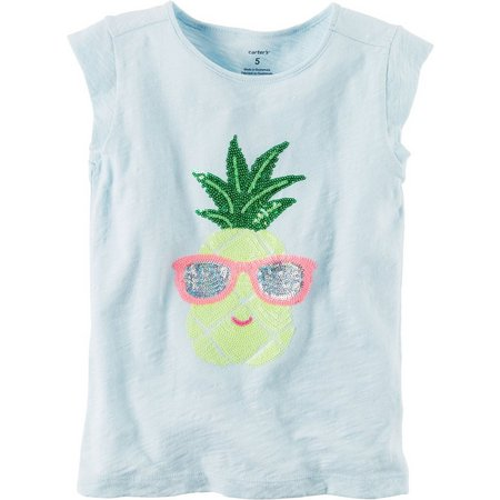 Carters Little Girls Pineapple T-Shirt