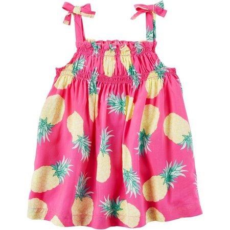 Carters Little Girls Pineapple Tank Top