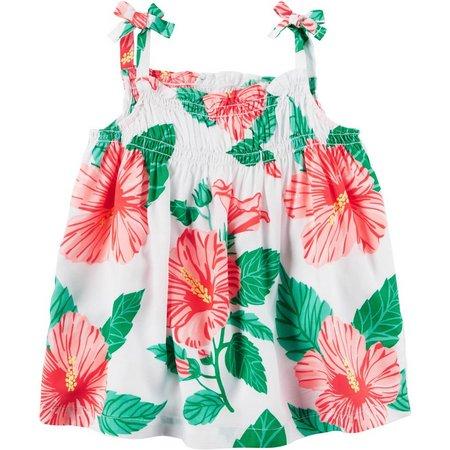 Carters Little Girls Tropical Flower Tank Top