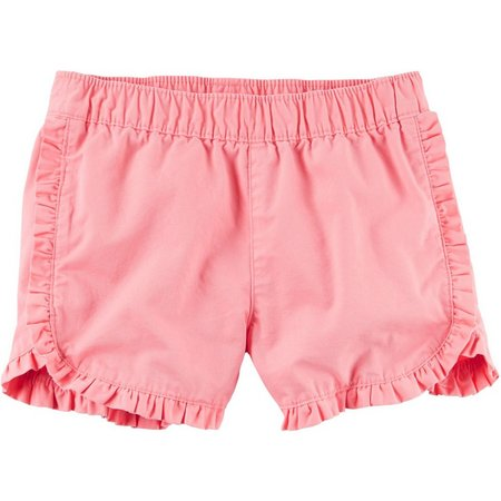 Carters Little Girls Ruffle Twill Shorts