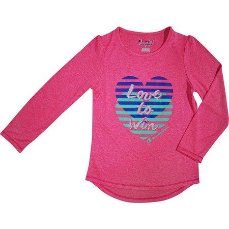 Champion Little Girls Love To Win T-Shirt