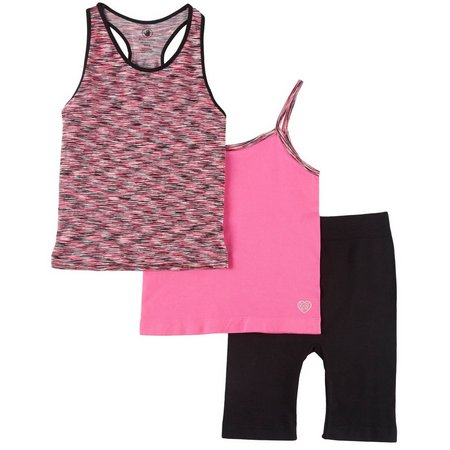 Body Glove Little Girls 3-pc. Tank Top Bike