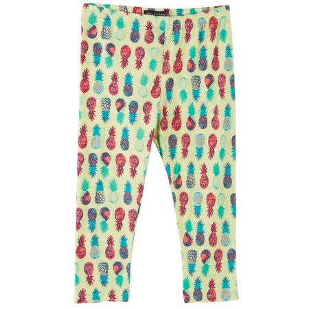 Derek Heart Girl Big Girls Pineapple Leggings