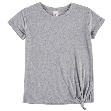 Hybrid Little Girls Heather Side Knot T-Shirt
