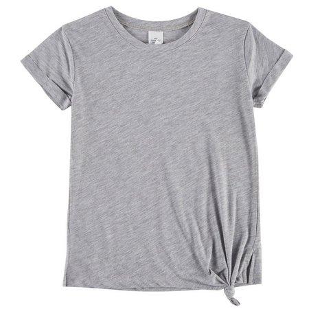 Hybrid Big Girls Heather Side Knot T-Shirt