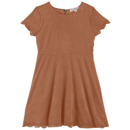 Almost Famous Big Girls Faux Suede Dress