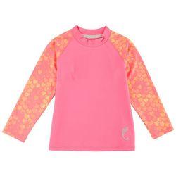 Reel Legends Little Girls Pink Tales Rashguard