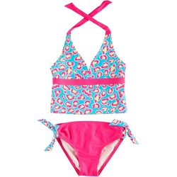 St. Tropez Little Girls Cheetah Tankini Swimsuit