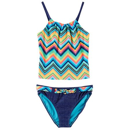 Angel Beach Big Girls Horizon Tankini Swimsuit