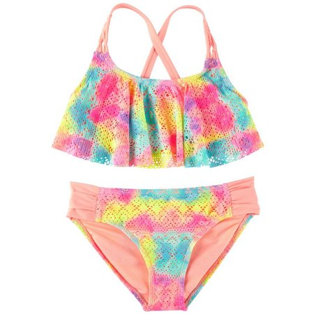 Angel Beach Big Girls Paradise Ombre Bikini Swimsuit